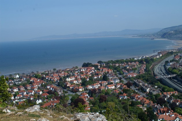 View onto Rhos-on-Sea from Bryn Euryn