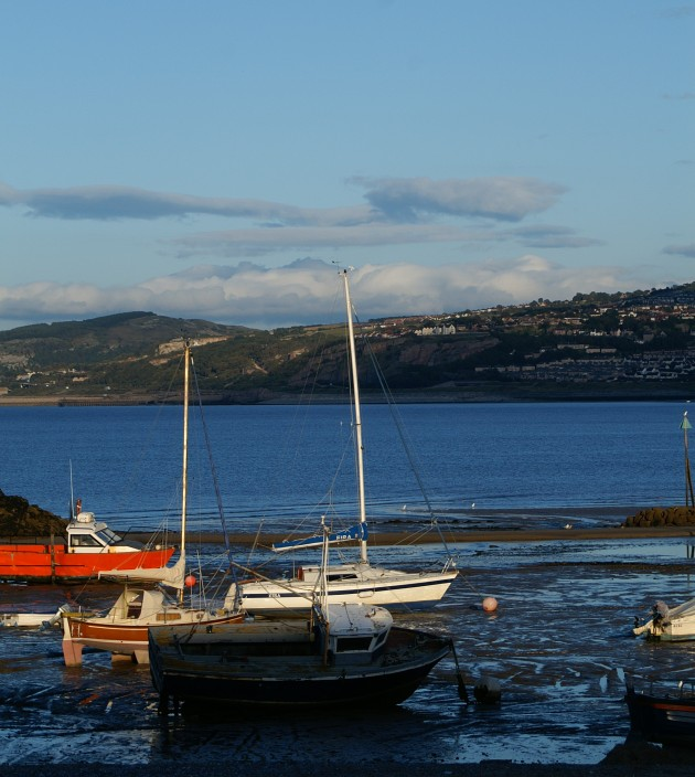 The harbour and view across Colwyn Bay