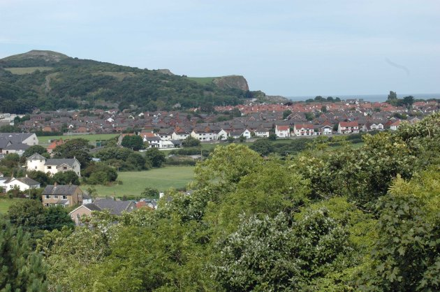 View to Penrhyn Bay from slopes of Bryn Pydew