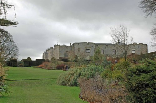 Chirk Castle from the gardens