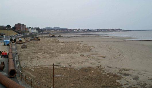 6th April, the new beach so far