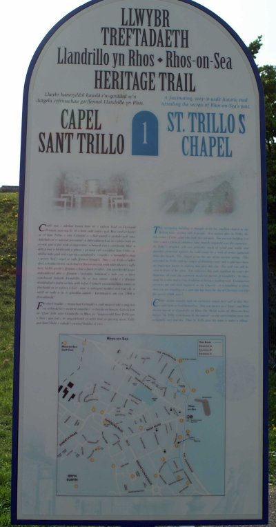 The narrative board on the promenade near the chapel (click to enlarge)