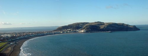 View across the bay to the Great Orme