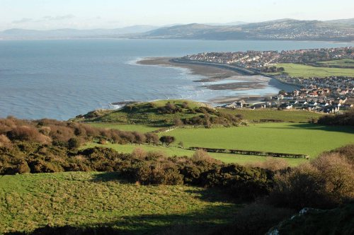 Going down-a view of the pastures on the Little Orme