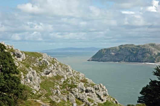 The view from the Great Orme to the Little Orme and beyond
