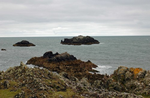 Some of the jagged rocks that surround the island