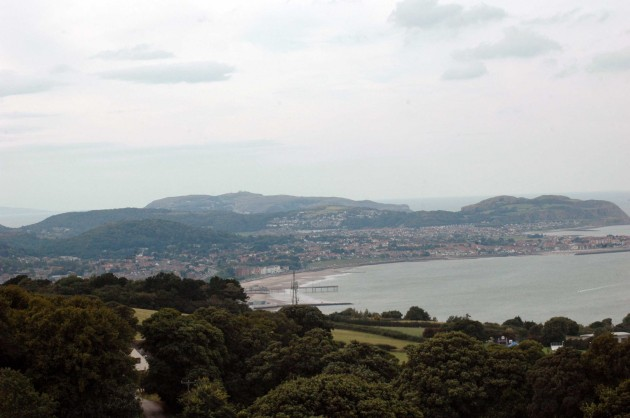 View over Colwyn Bay to the Little Orme & Gt Orme beyond