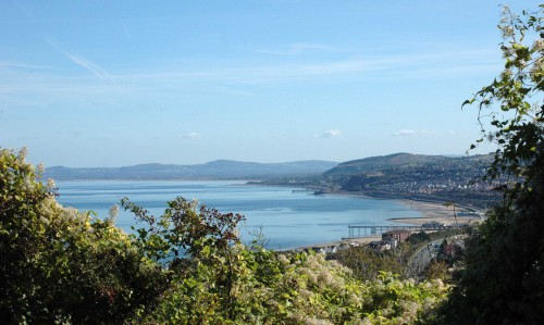 Looking down the coast to Abergele & Rhyl