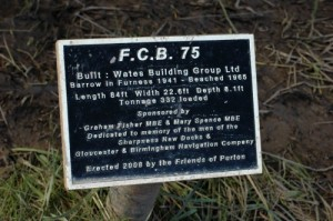 One of many plaques that now commemorate the sacrificed vessels