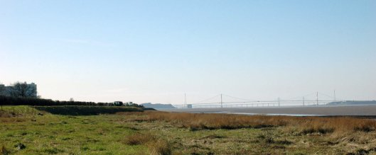 Original Severn Bridge crossing & Oldbury Nuclear Station