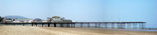 Colwyn Bay Pier, in a sad and dilapidated state