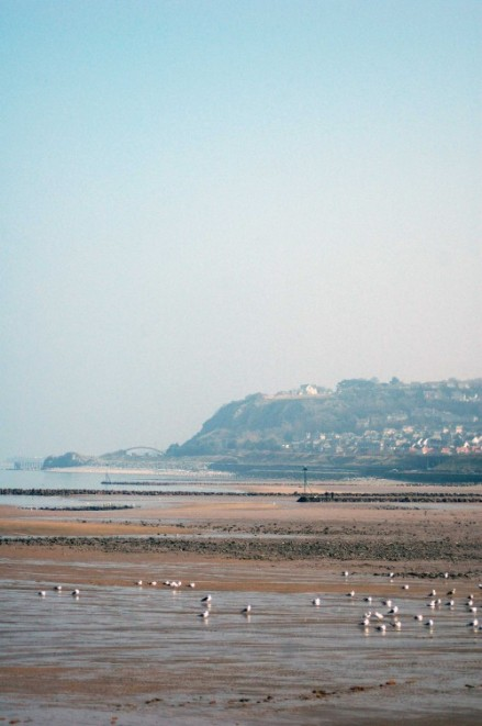 The view from Porth Eirias that shows the route of the Coast Path  towards Llandulas
