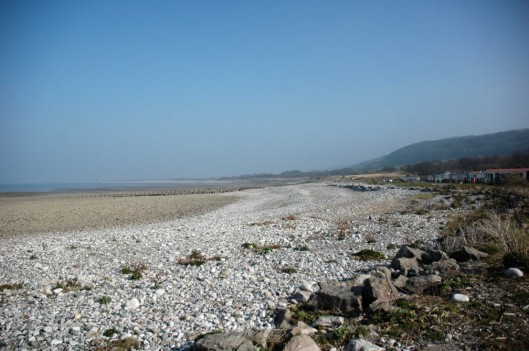 The shoreline stretches on to Pensarn then on to Prestatyn and Rhyl