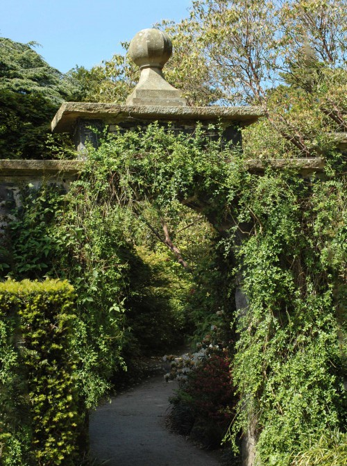 An intriguing archway in a  stone wall