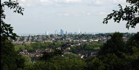 View to the London skyline - click to enlarge