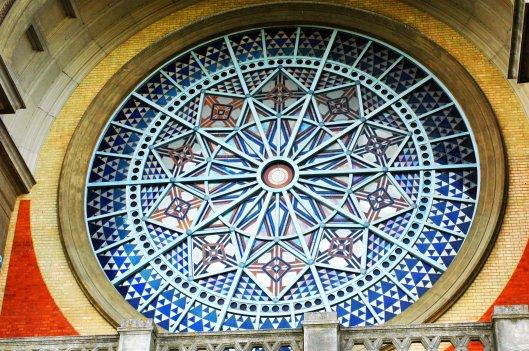 The jewel-like stained glass window