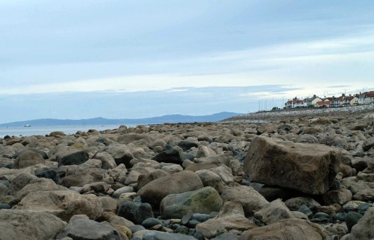 The rocky shore of Rhos Point from Penrhyn Bay