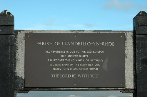 151007TGNW-1-St Trillo Chapel plaque-Rhos-on-Sea